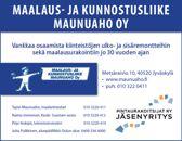 Maalaus- ja kunnostusliike Maunuaho Oy