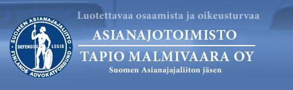 Asianajotoimisto Tapio Malmivaara Oy