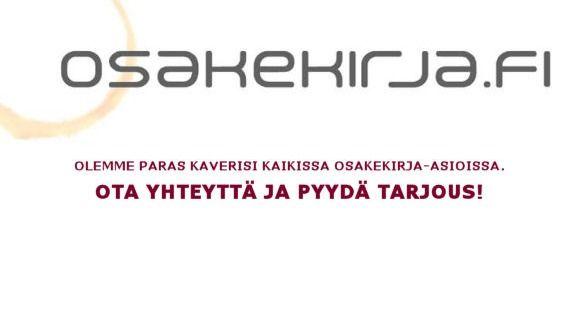 Osakekirja.fi / Keräilyliike Osake & Kirja Oy