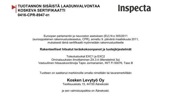 Kosken Levytyö Oy, Äänekoski