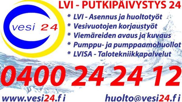 Vesi 24 Oy - Vesijohtoliike, Helsinki