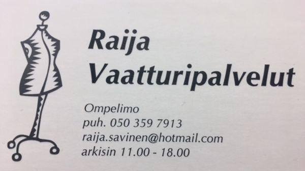 Raija Vaatturipalvelut, Espoo
