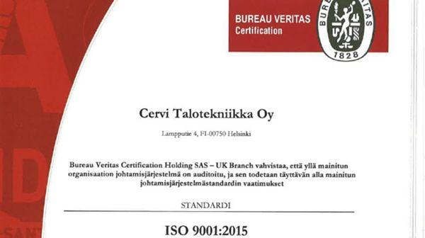 Cervi Talotekniikka Oy, Helsinki