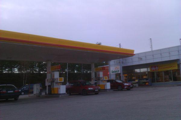 The gas station Shell Ylöjärvi at Finland, Western Finland, Ylöjärvi
