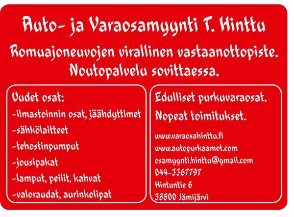 Auto- ja Varaosamyynti T. Hinttu, Jämijärvi