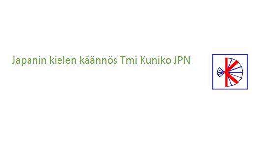 Japanin kielen käännös Kuniko JPN Tmi, Vantaa